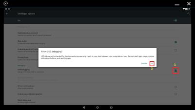 USB Debugging Developer Options AMIDuOS