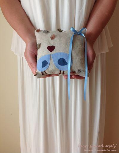 shabby chic ring bearer pillow