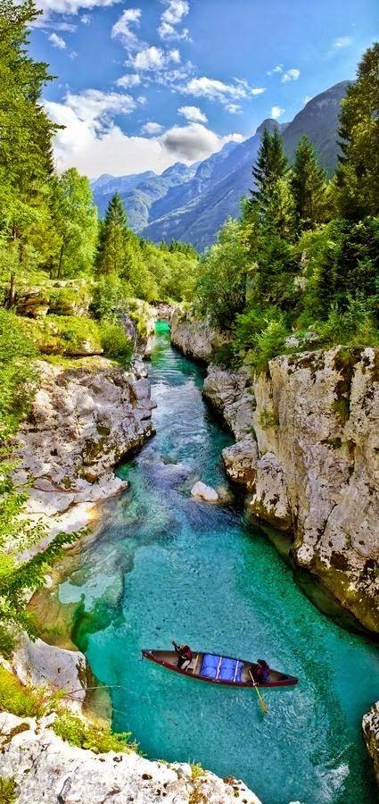 Emerald river, Soča, Slovenia