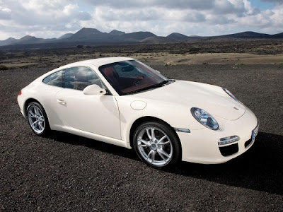 White Porsche 911 Carrera Wallpaper