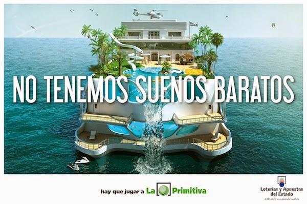 Campaña publicitaria No tenemos sueños baratos - Bote de la Primitiva