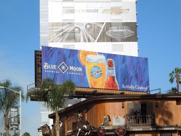 Blue Moon beer Summer 2013 billboard