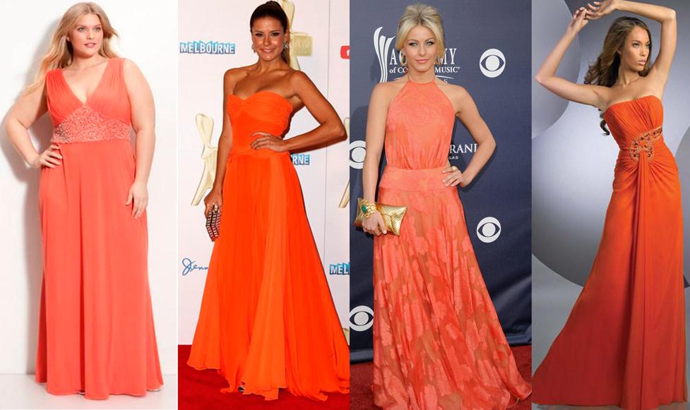 vestido, laranja, formatura, tendência, sucesso