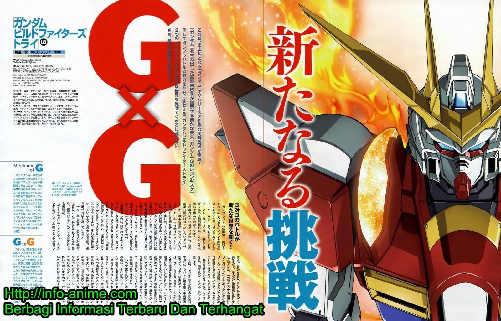 [ Info-Anime ] Lagu Ending Kedua Gundam Build Fighter Try Diperlihatkan