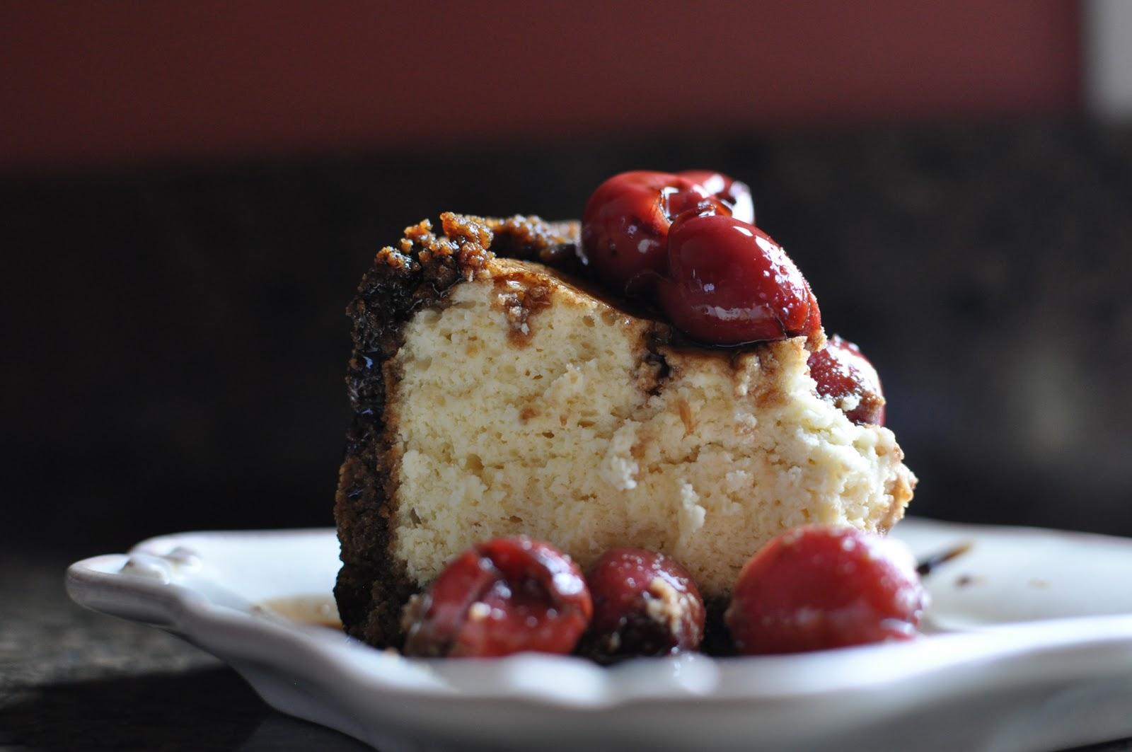 My Own Sweet Thyme: Honeyed Balsamic Cherry Cheesecake in ...