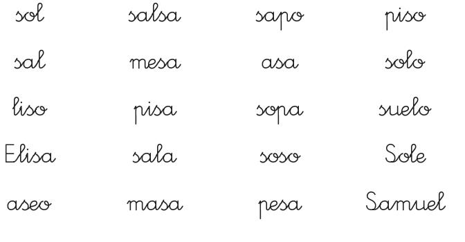 Maestra de Primaria: Lectura con los fonemas p, l, m, s, t, y d