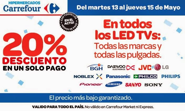 tecno promos argentina 20 de descuento led tvs en carrefour. Black Bedroom Furniture Sets. Home Design Ideas