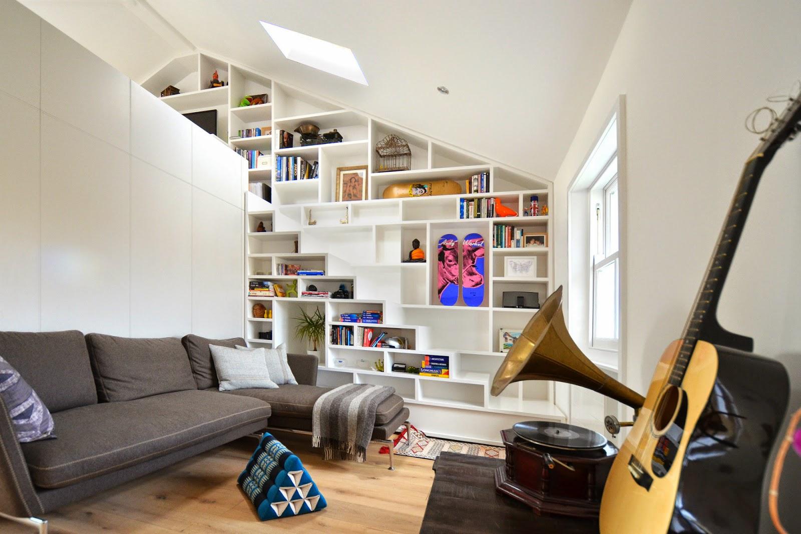 Un faro de ideas dinamico espacio de estar y trabajo londres for Come arredare un living