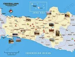Peta Objek Wisata Jawa Tengah