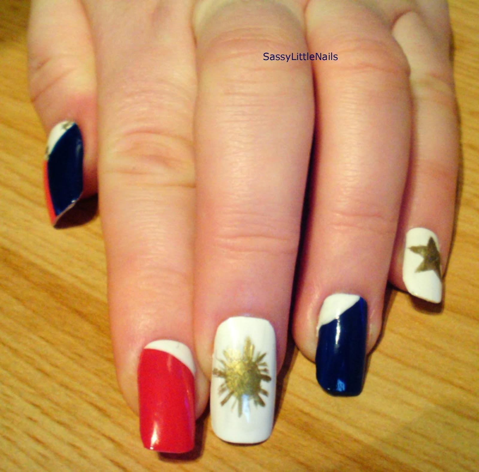 SassyLittleNails: Philippines Flag Nail Art For The
