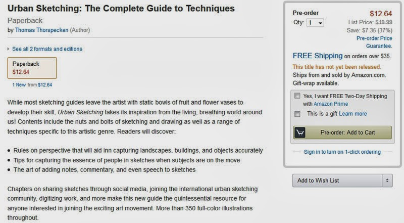 http://www.amazon.com/Urban-Sketching-Complete-Guide-Techniques/dp/1438003412/ref=sr_1_2?s=books&ie=UTF8&qid=1383680475&sr=1-2&keywords=Urban+Sketching+the+complete+guide+to+techniques