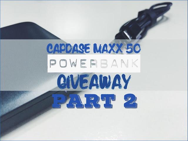Capdase Maxx Powerbank Giveaway