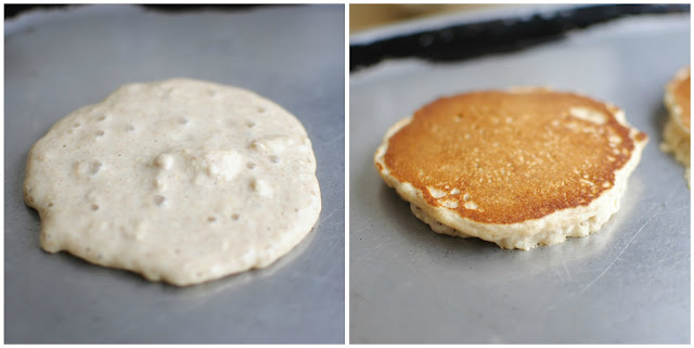 Whole Wheat Banana Oatmeal Pancakes l SimplyScratch.com