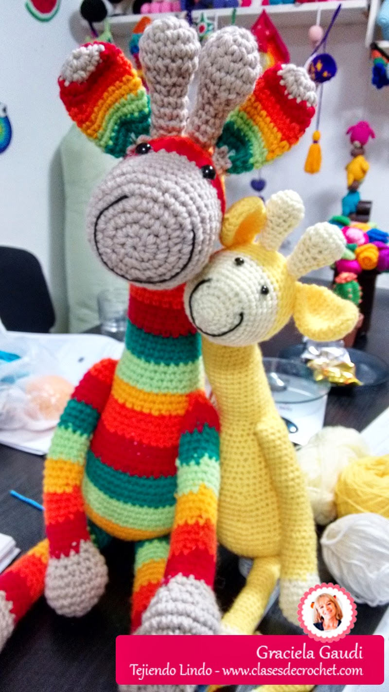 amigurumi crochet jirafa