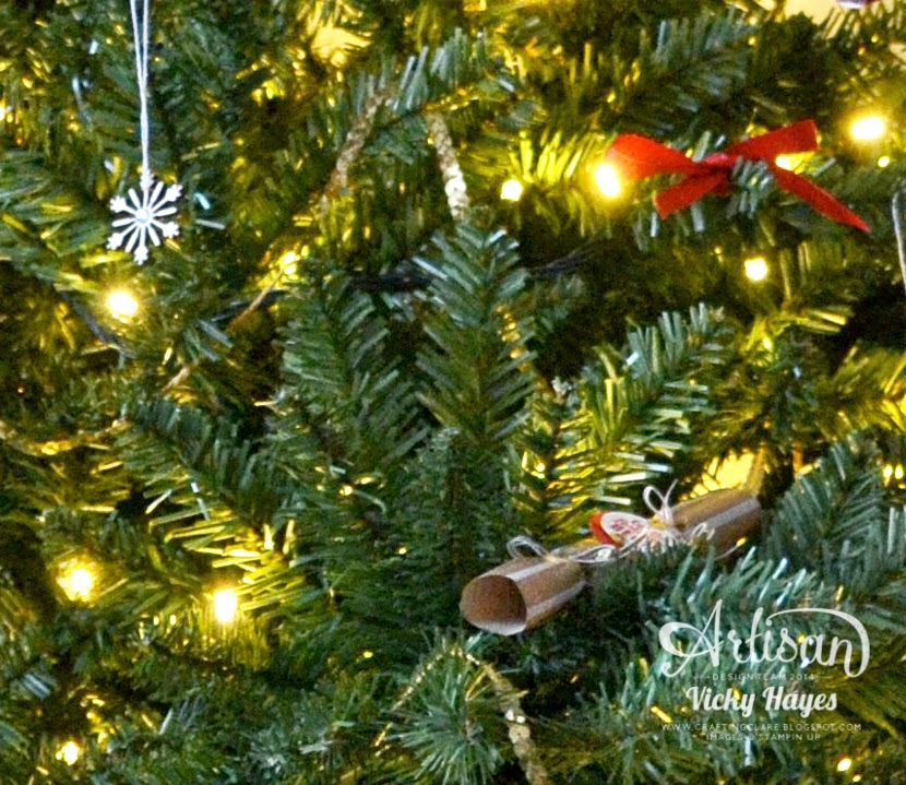 How to make handmade Christmas decorations with Stampin' Up products