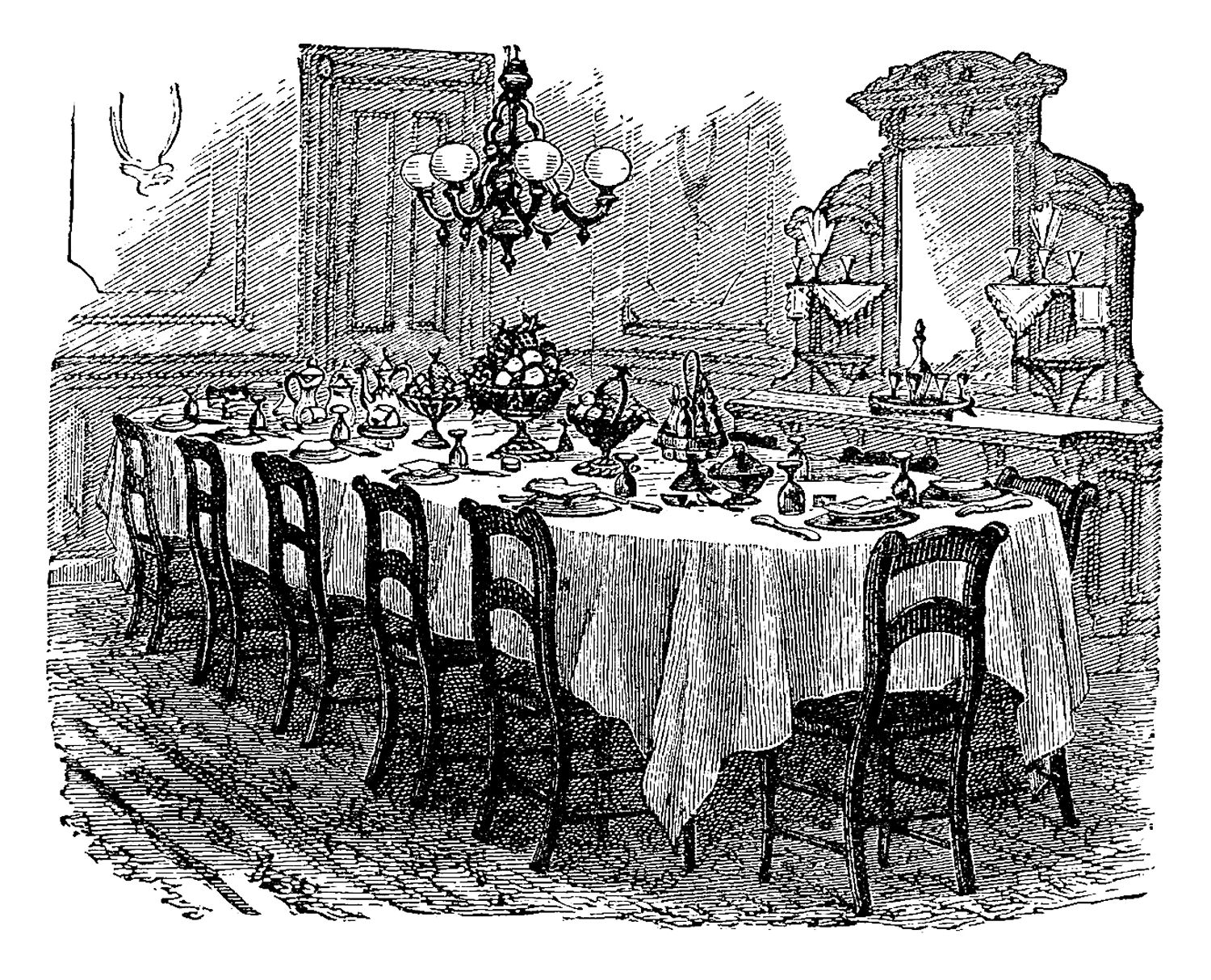 Old Fashioned Dining Etiquette