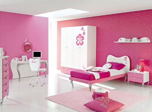 decoracao rosa para quarto de menina 12 Decoração de quarto rosa