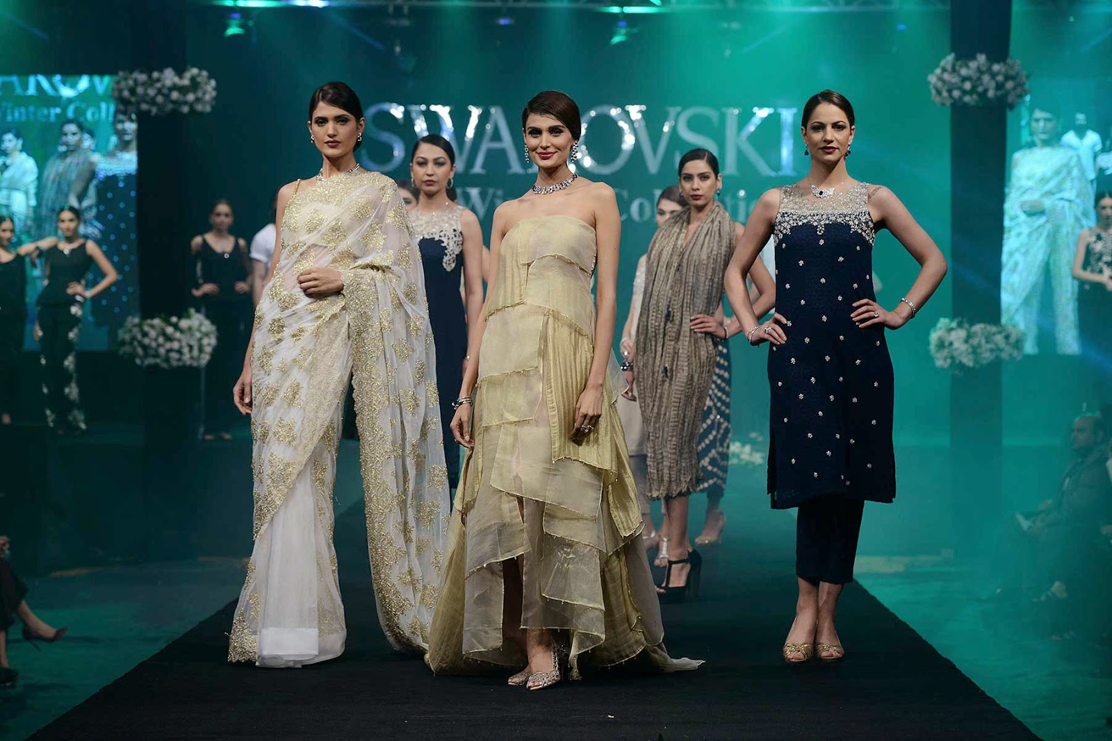 Models at the Nishat Swarovski Jewellery Launch Pakistan