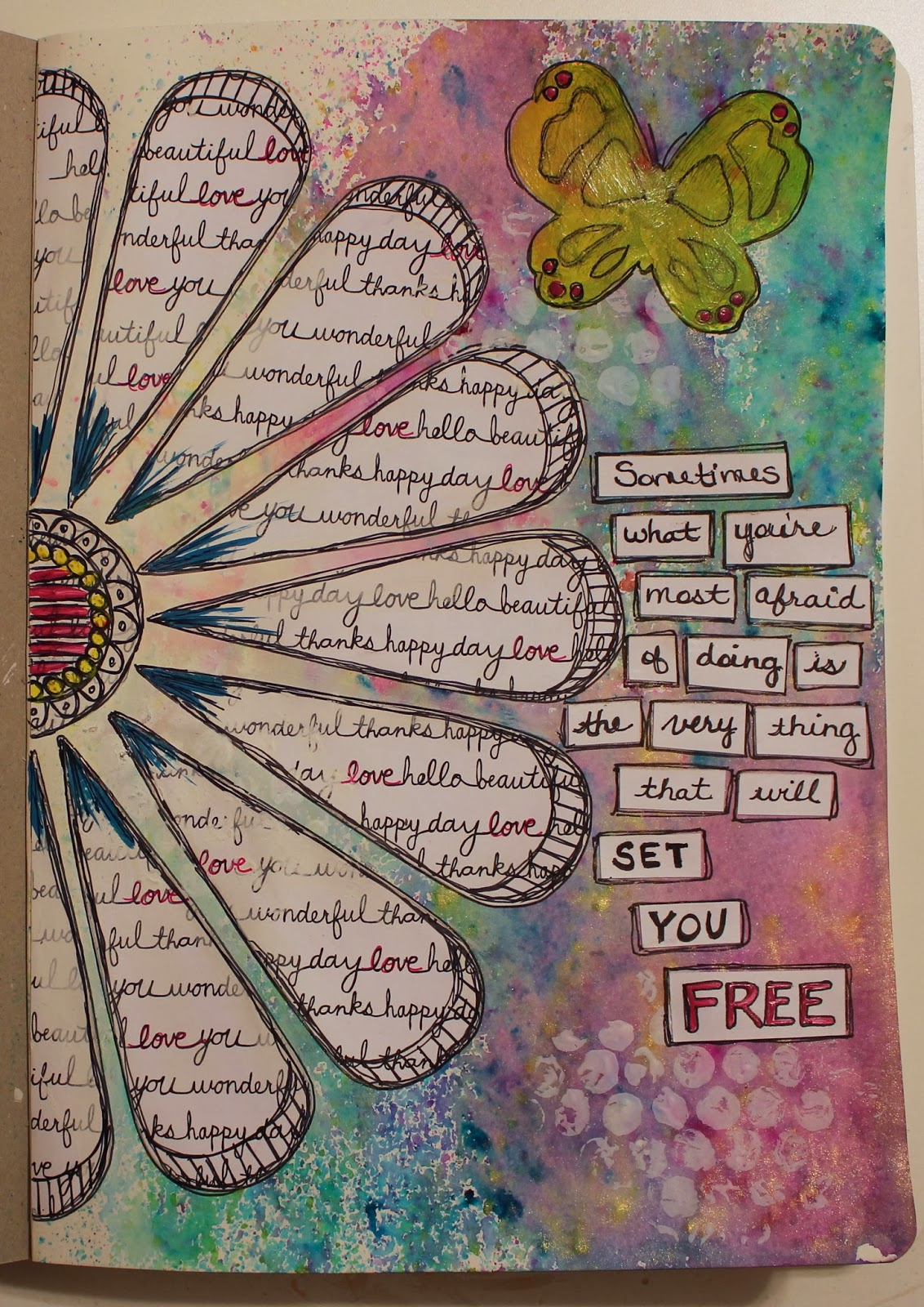 Art Book Cover Page Designs : Art journaling phobia frosted designs