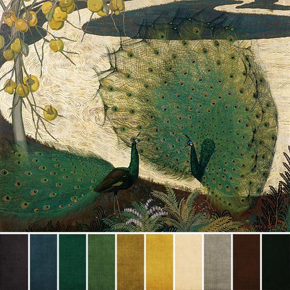 Art Bead Scene Blog January 2013 Challenge Color Palette