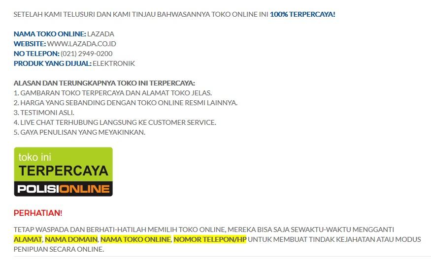 Review Online Shop Lazada Apo Be Ado
