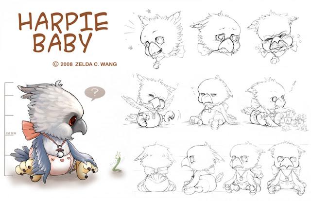 Harpie Baby por zeldacw