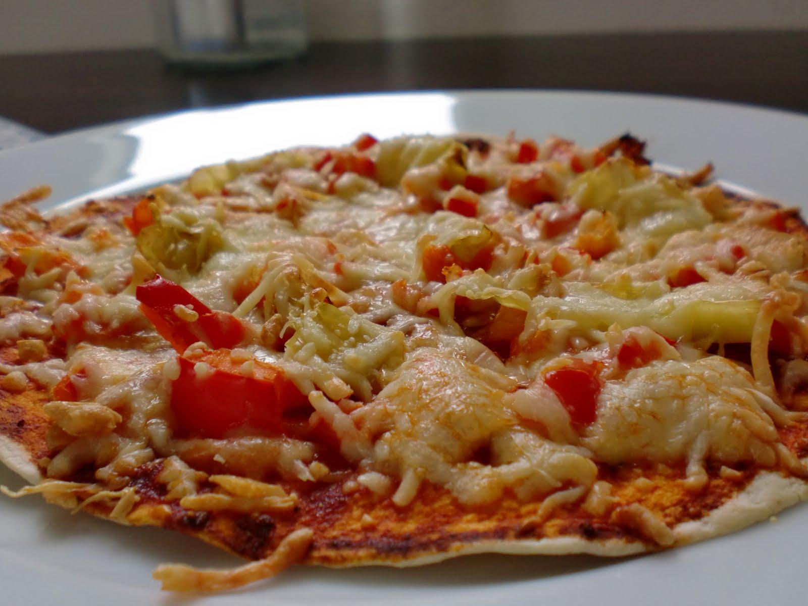 Frau Saltimbocca-Lüdenscheidt: Wrap-Pizza