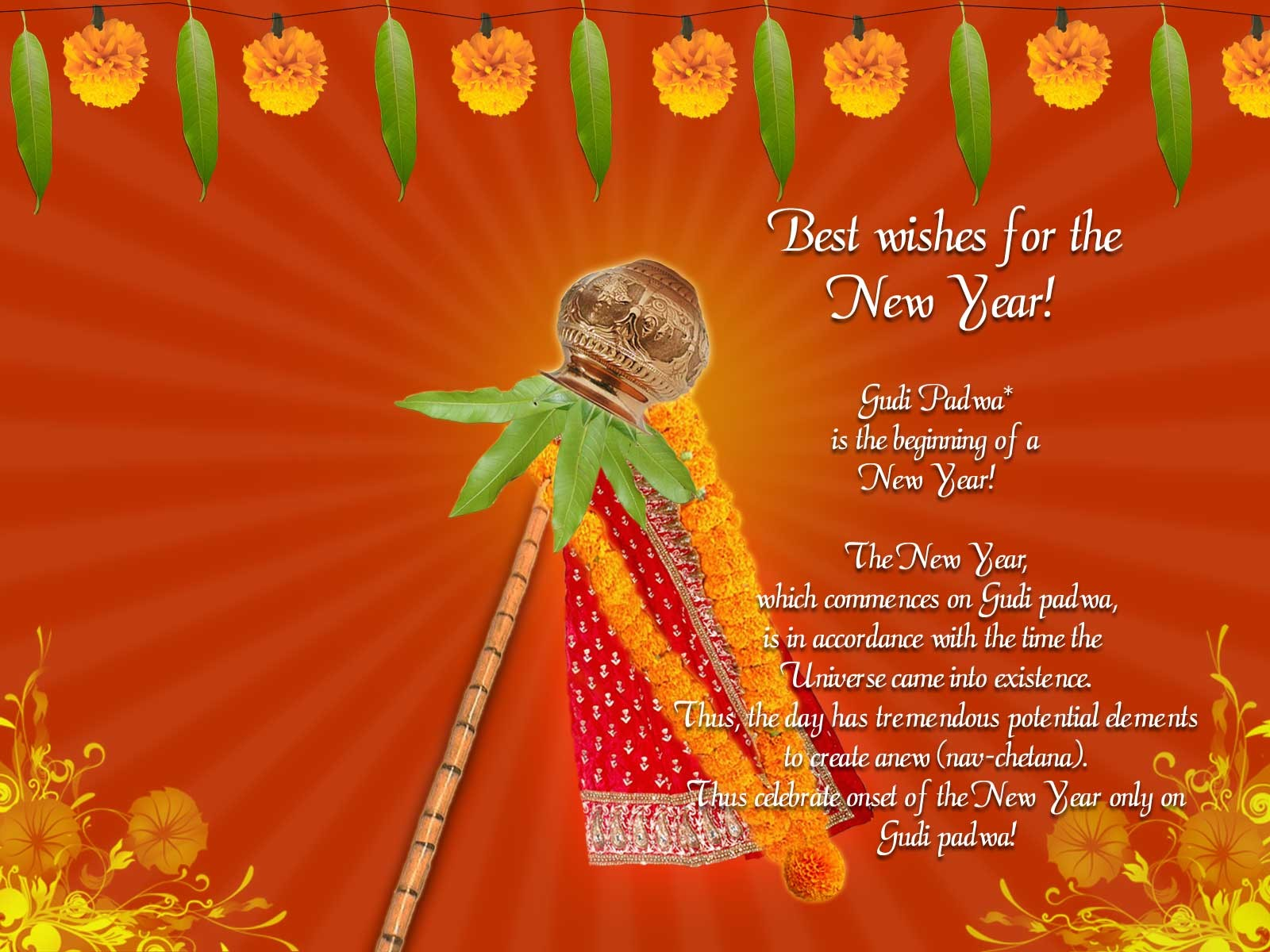 Khushi For Life Gudi Padwa Wishes Sms Messages Photo Images