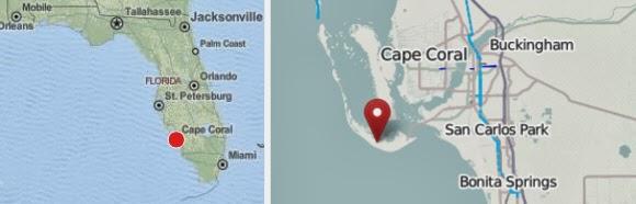 Karte Cape Coral J.N. Ding Darling National Wildlife Refuge
