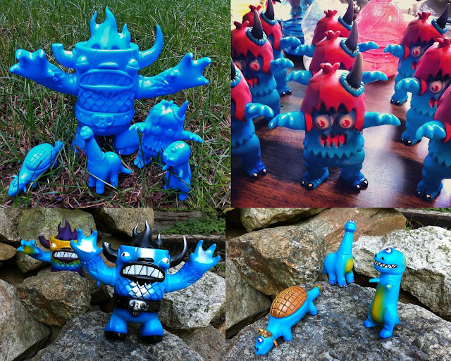 New York Comic-Con 2012 Exclusive Rampage Toys x Tenacious Toys Blue Manotaurs, Ugly Unicorns & Cyclops Dinos