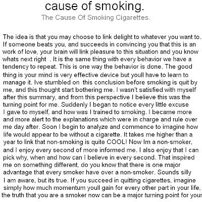 cause smoking