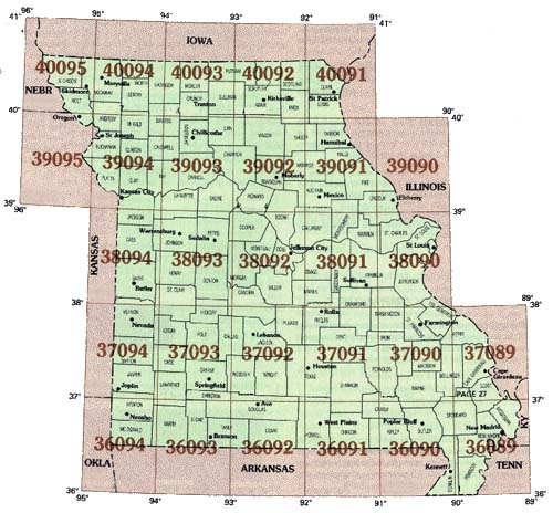 topographic maps of missouri. series topographic map.