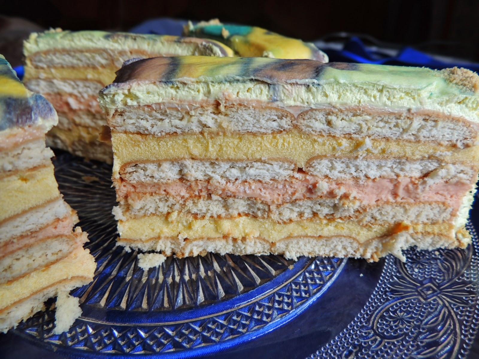 Keks torta sa pudingom