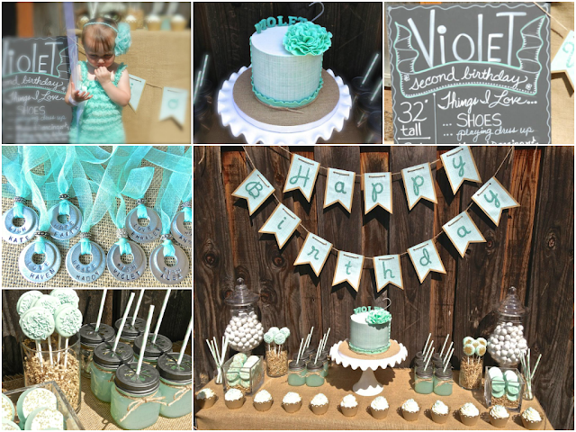 the blog a mint themed 2nd birthday by jackie from jack and kate