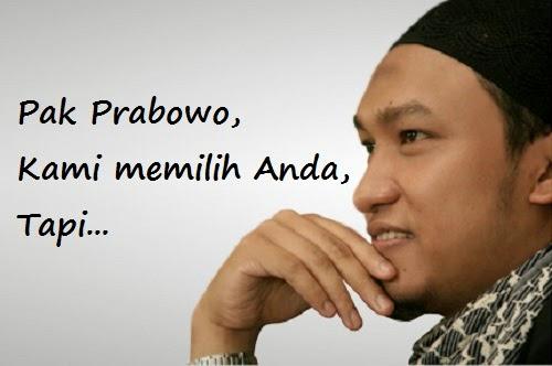 Salim A Fillah - tulisan untuk Prabowo