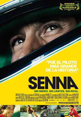 Cartel del documental Senna. Sin miedo, sin límites, sin rival