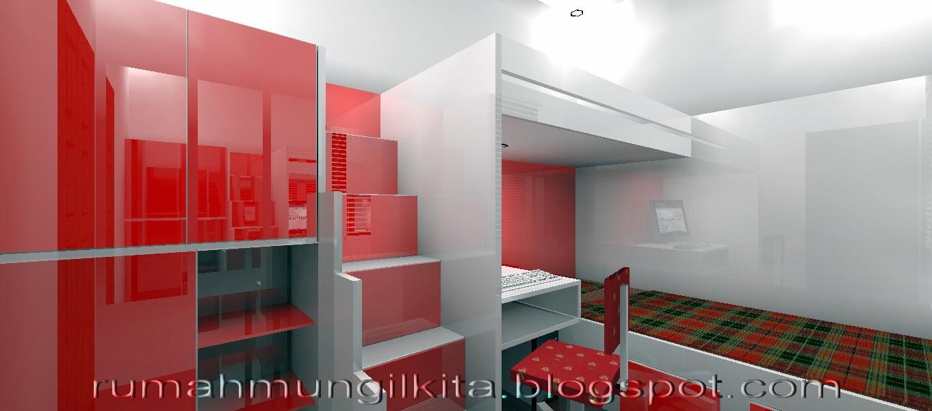 penataan rumah tipe 36 tanah 72 m2 area kamar tidur
