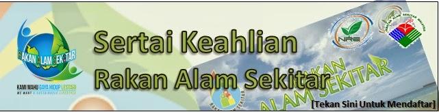 PENDAFTARAN KEAHLIAN RAKAN ALAM SEKITAR (RAS)