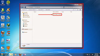 How to show hidden folder and files in windows 7 step5