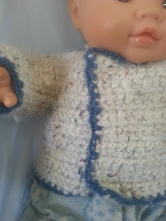 Crochet cardigan for 30inch doll