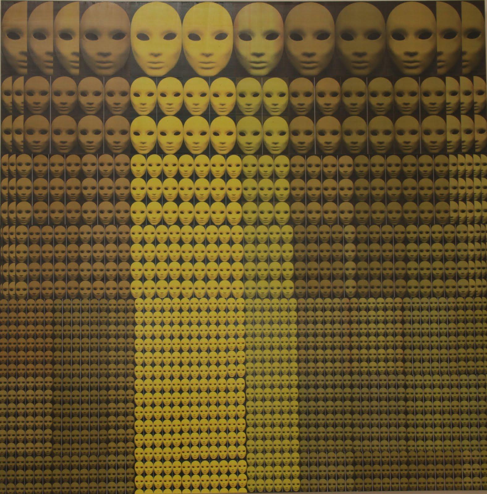 Solange Alves,  Fractal 6 - Nós Somos Todos Fractais, Colagem sobre madeira, 140x140cm.