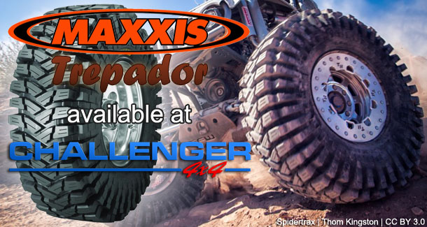 Maxxis Trepador Tyres available at Challenger 4x4