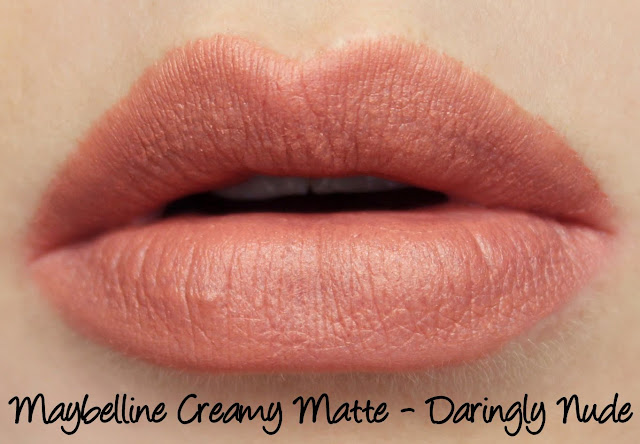 Maybelline Colorsensational Creamy Matte Lipstick - Daringly Nude Swatches & Review