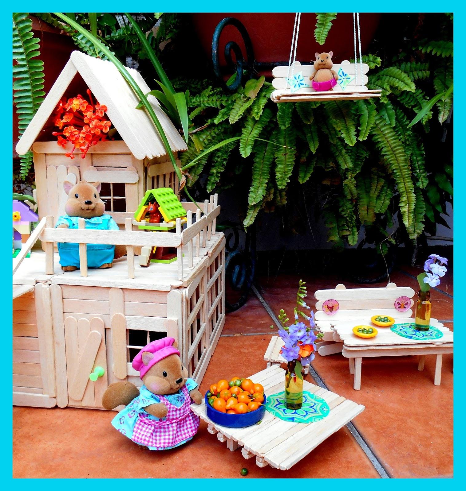 Lara techo hecha con palitos de helado diy jpg pictures to for Manualidades para decorar el hogar