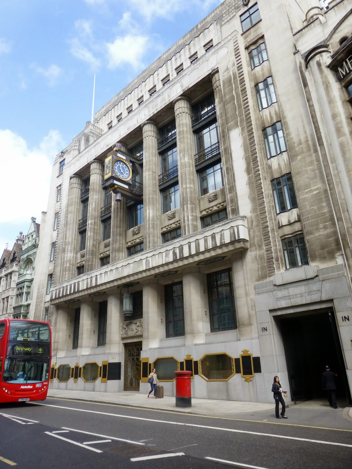 Art Deco London Daily Telegraph Building Fleet Street Glass Half Full