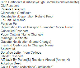one of the proof for apply Fresh Passport\Re-issue Passport image