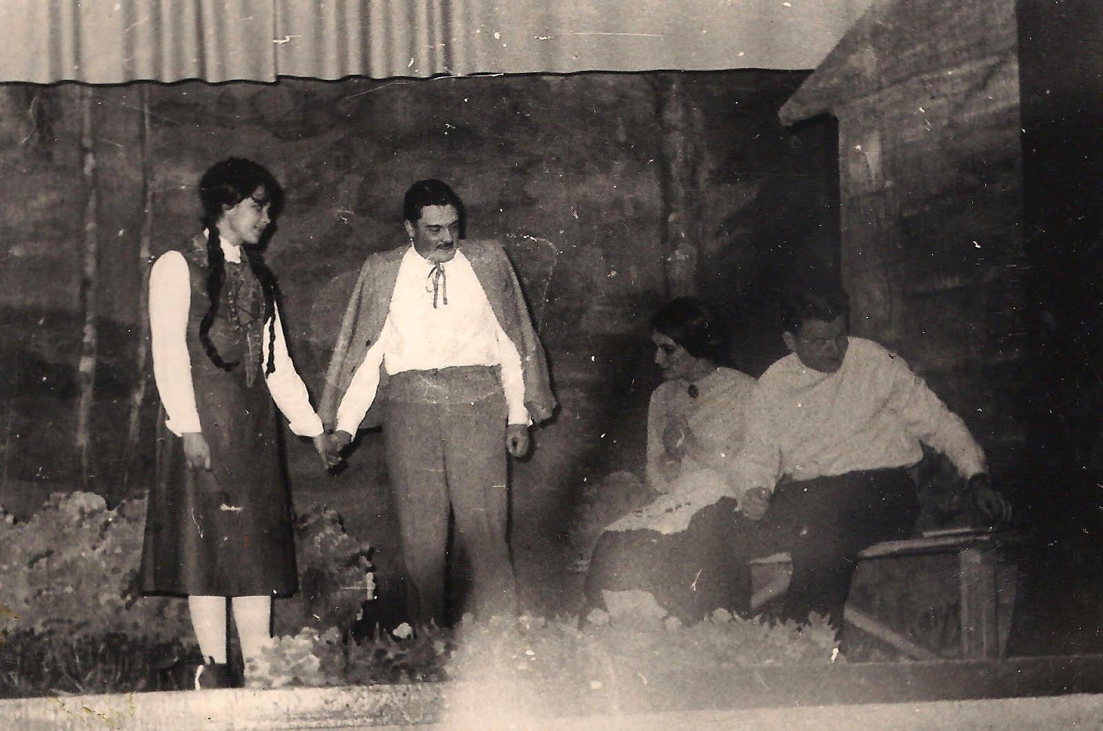 """Pēc Rūdolfa Blaumaņa darba motīviem iestudētā luga ,, Brīnumzālīte """" . 1970. gads"""