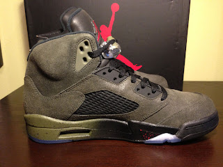 Buy Online Nike Air Jordan 5 Retro Fear Sequoia Fire Red Medium