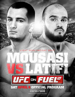 Assistir UFC Suécia ao vivo Mousasi x Latifi