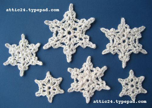 The vintage pattern files vintage crochet snowflakes